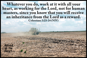 Word on Wednesday: Working for the Lord