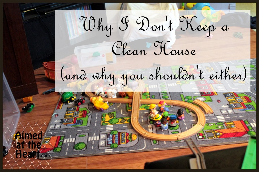 Why I Don't Keep a Clean House ( and why you shouldn't either) - Aimed at the Heart