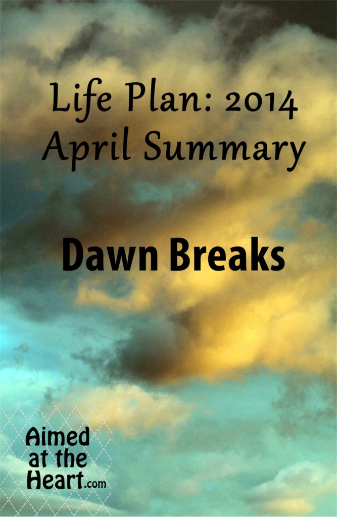 A new season, a new quarter, a new day. Life Plan 2014: April Summary - Aimed at the Heart