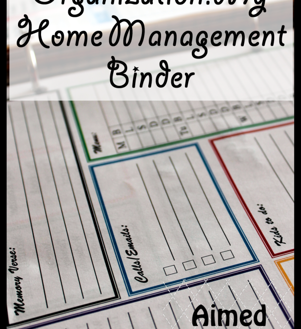 My Quest for Organization: Home Management Binders